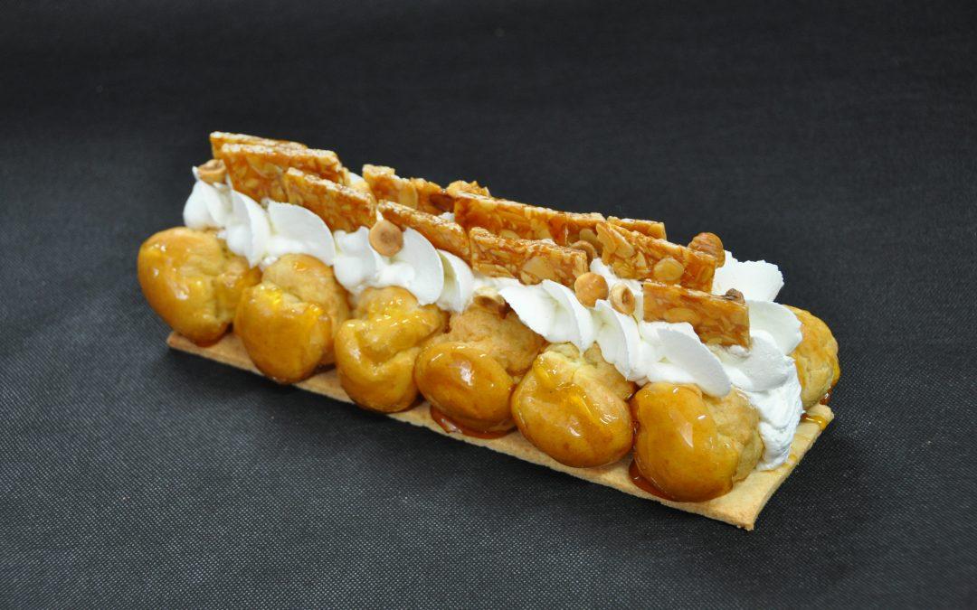 🎄Bûche pâtissière Saint-Honoré ✨ Diplomate vanille bourbon et caramel ⭐️